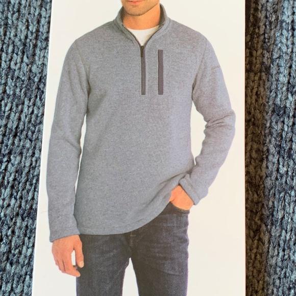 Eddie Bauer Men's Sweater Fleece Qtr. Zip XXL Blue
